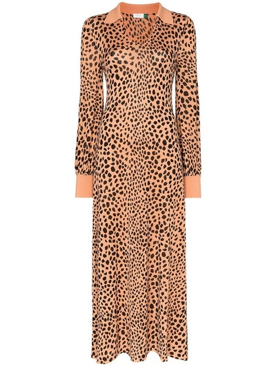 Piper Leopard-Print Midi Dress