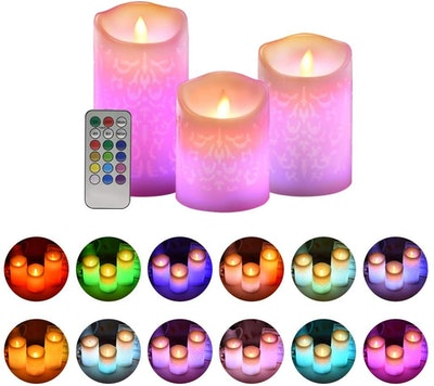 ACROSS Flickering Flameless Candles (3-Piece)