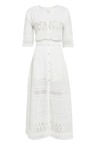 Loveshackfancy Beth Lace-Trimmed Cotton Dress