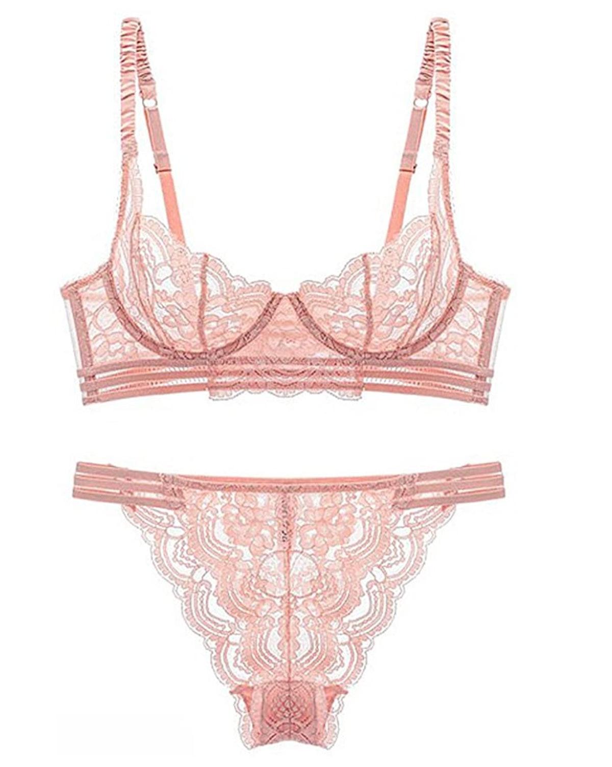 Guoeappa Women's Sexy Soft Lace Lingerie Set
