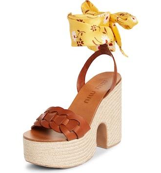 Ankle Tie Platform Sandal