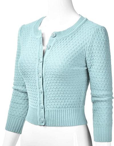 EIMIN Crewneck Button Down Sweater