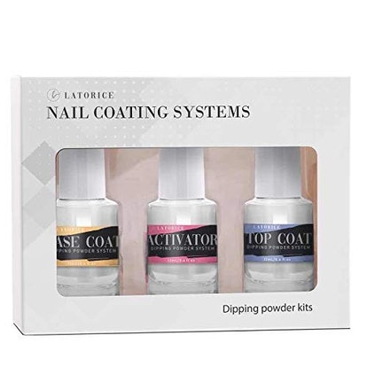 Latorice Dipping Powder Nail Top & Base Coat With Activator Set