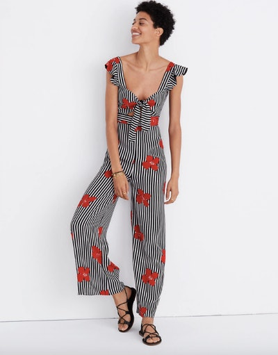 Plumeria Cutout Jumpsuit in Candied Orchids