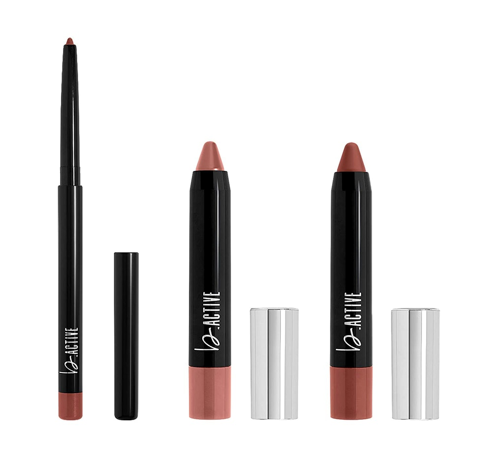 One Click Beauty b.ACTIVE 3-Piece Lip Kit, Longwear Makeup