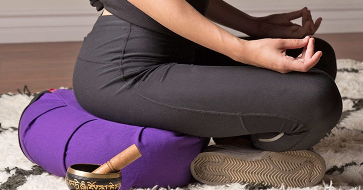 These Meditation Cushions Are The Secret To Getting Comfy (& Supported) In Your Home Practice