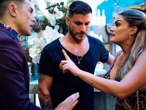 Tom, Jax, and Brittany in the 'Vanderpump Rules' Season 8 finale.