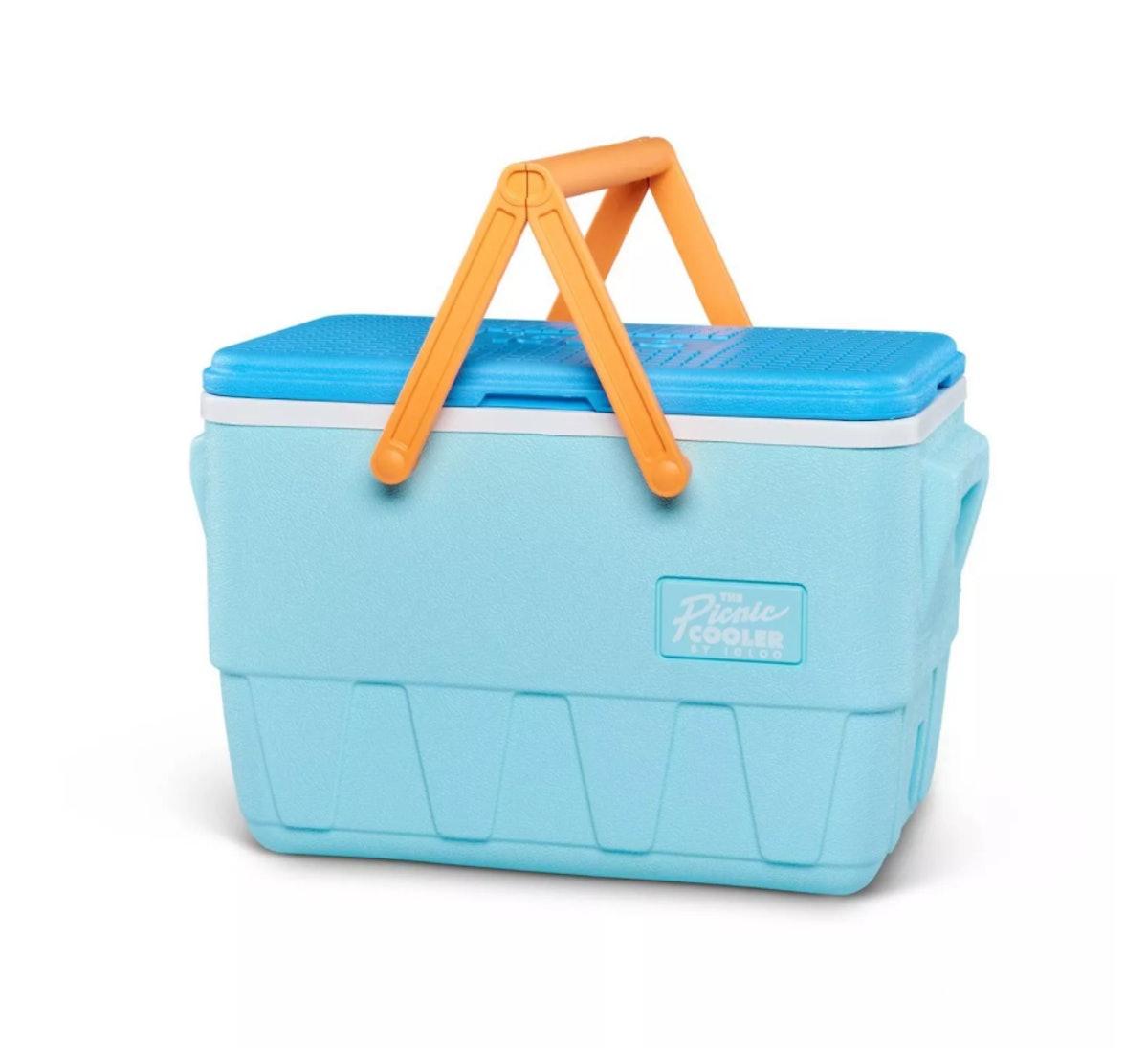 Mint Igloo Retro Picnic Basket Cooler