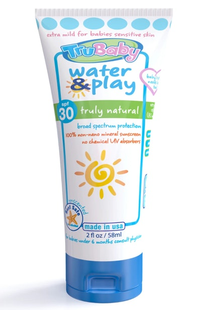 TruBaby Water & Play SPF 30+ WR/Unscented Mineral Sunscreen 2 oz Tube