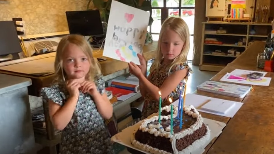 Jimmy Fallon celebrated his wife's birthday at home with his daughters.