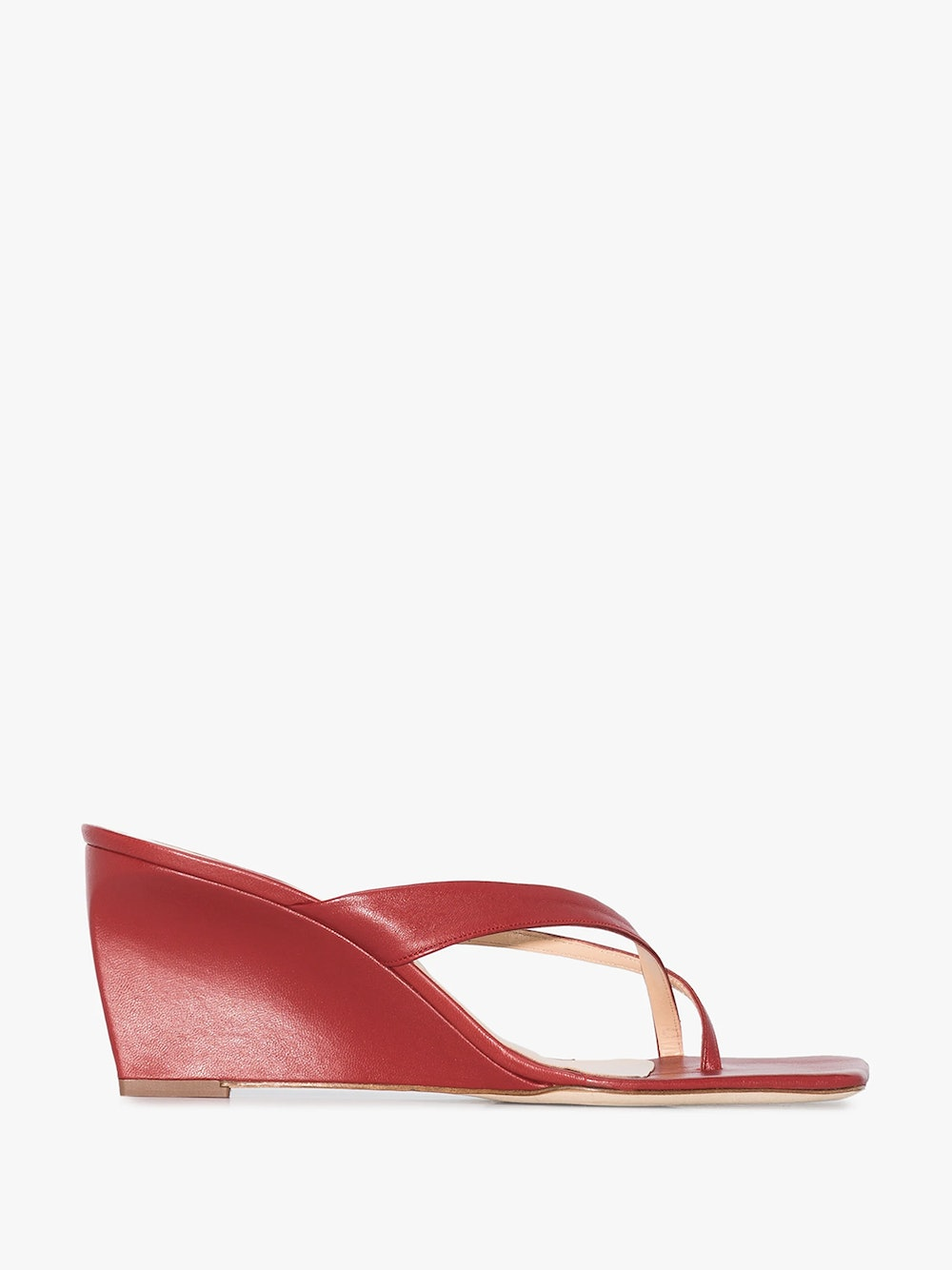 By Far Theresa 40 Leather Wedge Sandal
