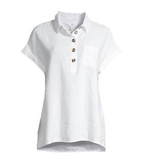 Short Sleeve Button Tunic