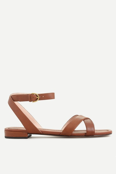 J.Crew Abbie Cross-Strap Sandal