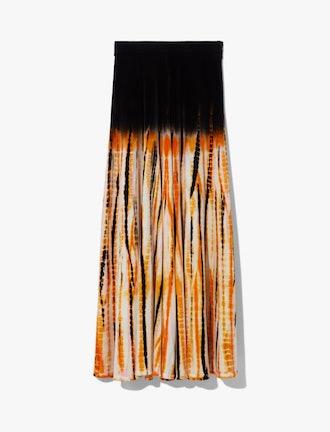 Tie Dye Velvet Skirt