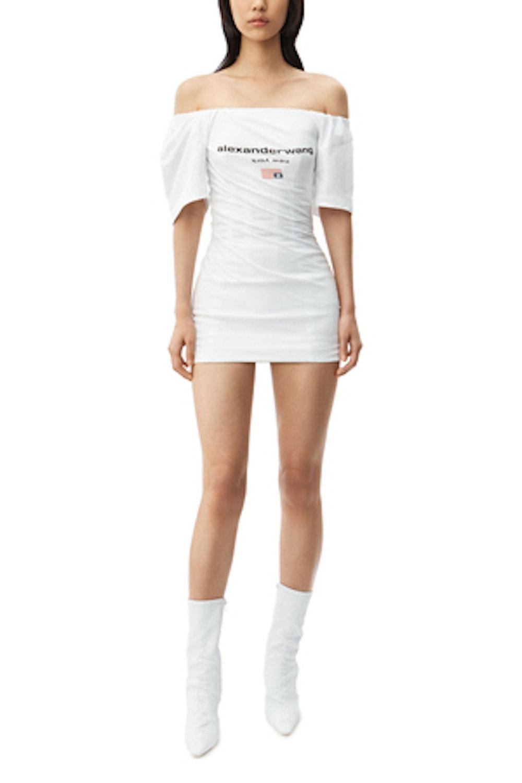 Twisted T-Shirt Bustier Dress