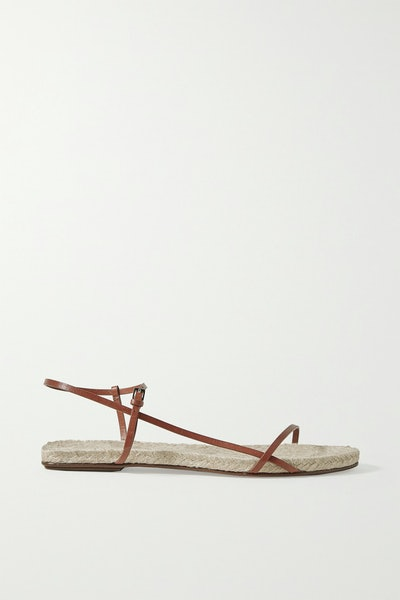 The Row Bare Leather Espadrille Sandals