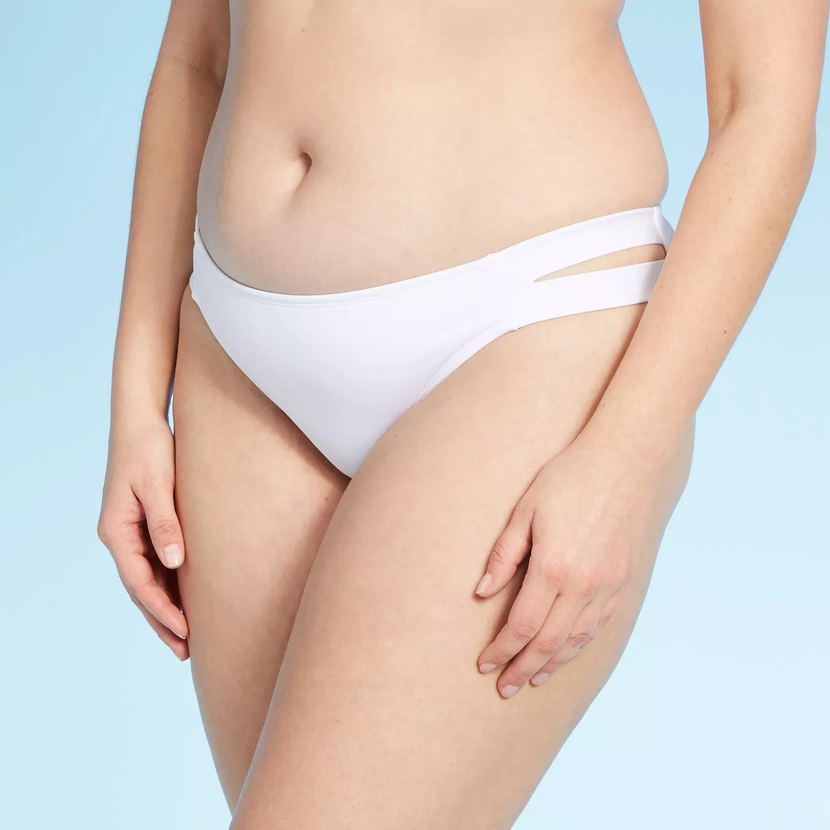 Kona Sol Women's Medium Coverage Double Tab Hipster Bikini Bottom