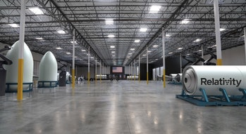 What Relativity Space hopes its new factory in Long Beach, CA, will look like within the next few years.