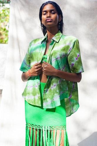 Verde Loro Linen Shirt