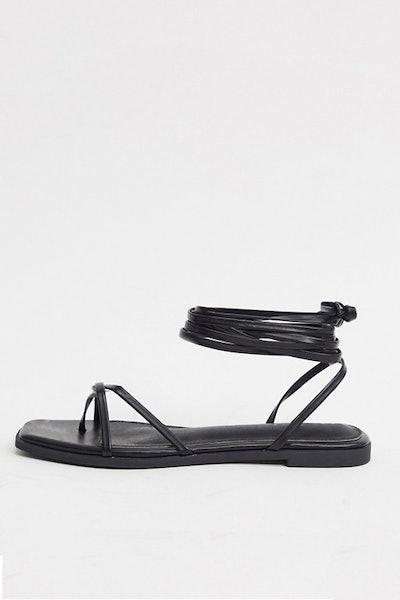 Raid Martha Strappy Ankle Tie Sandals