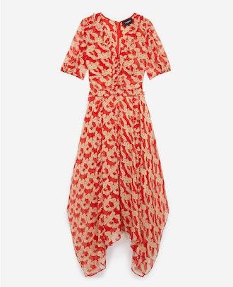 Red Long Printed Dress