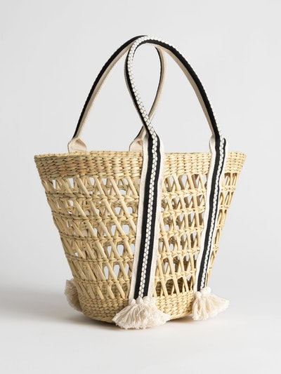 & Other Stories Woven Straw Bucket Bag