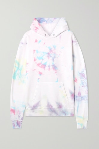 Hailey Oversized Tie-Dyed Cotton Blend Jersey Hoodie