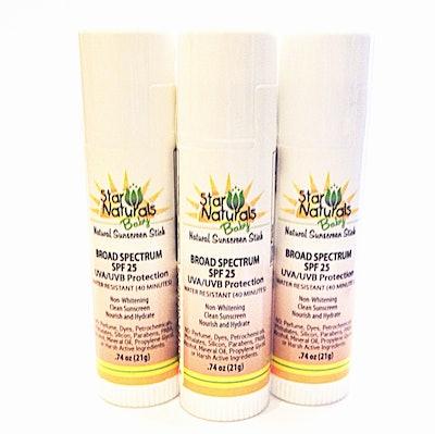 Star Naturals Sunscreen Baby Stick SPF 25 - 3 Pack