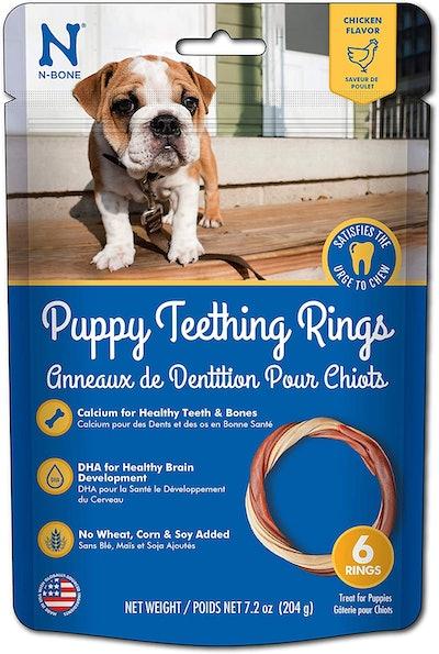 N-Bone Puppy Teething Rings (7.2 Ounces, 6 Rings)