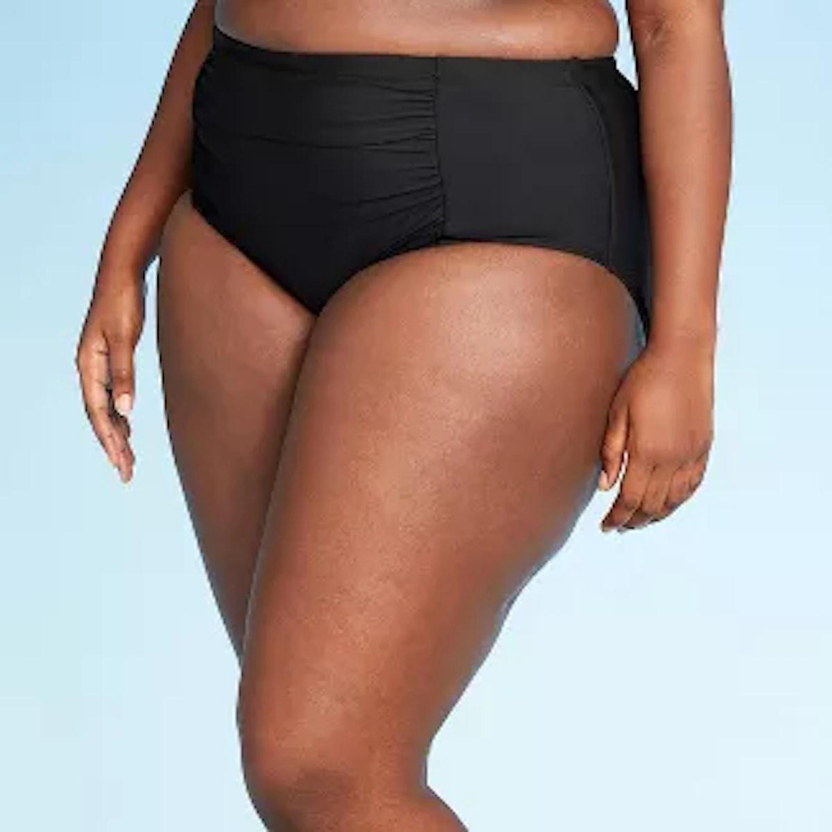 Sea Angel Women's Plus Size High Waist Bikini Bottom