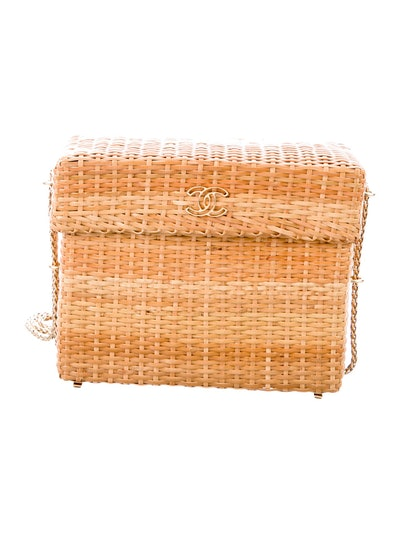 Chanel Vintage CC Wicker Basket Bag