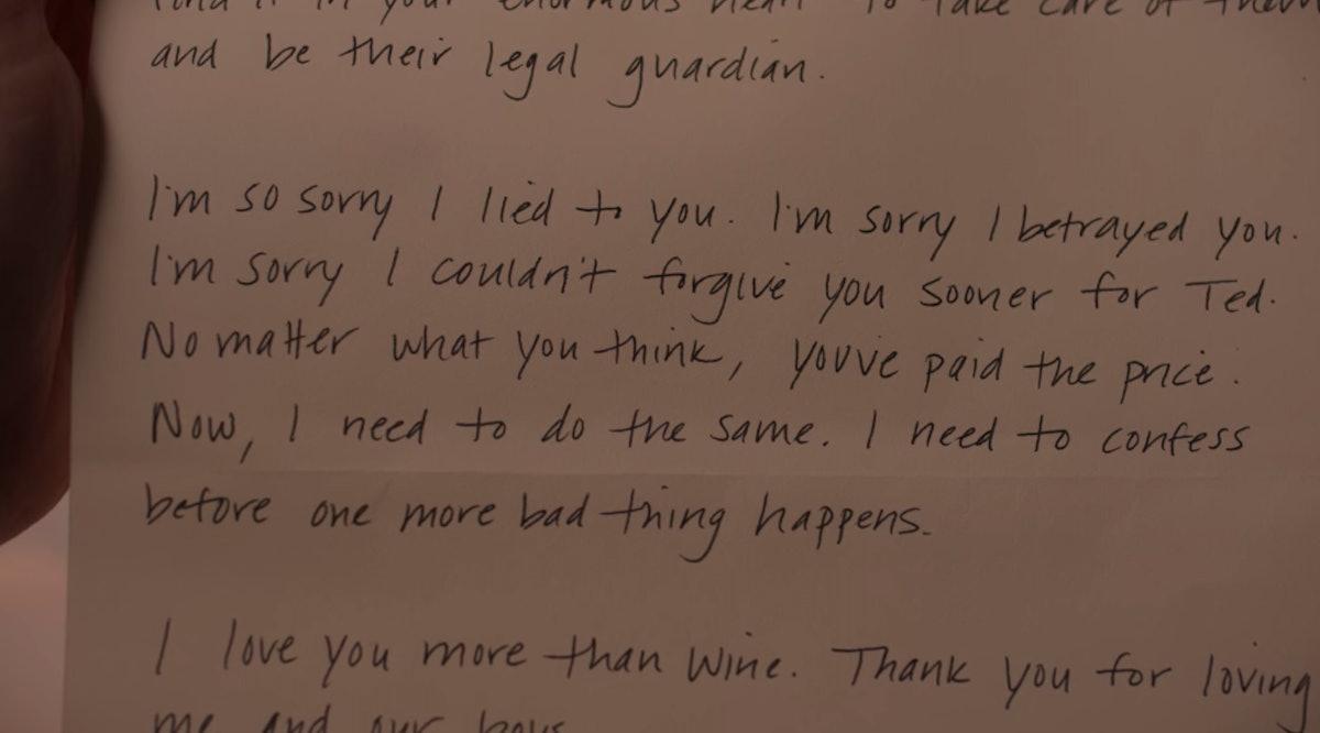 Jen's letter to Judy in 'Dead To Me' Season 2