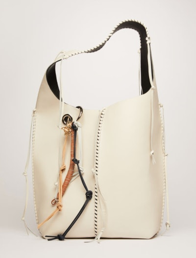 Grain Leather Tote Bag