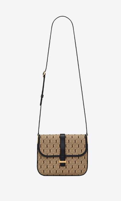 Monogram Small Satchel In Canvas And Leather