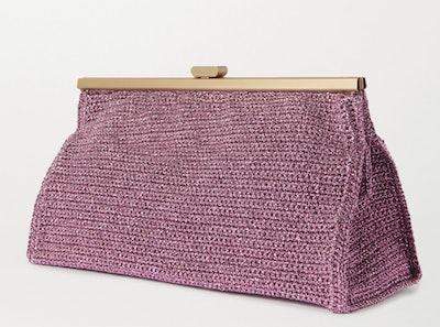 Bourse Crochet-Knit Lurex Clutch