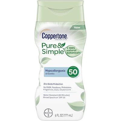 Coppertone Pure & Simple SPF 50 Sunscreen Lotion