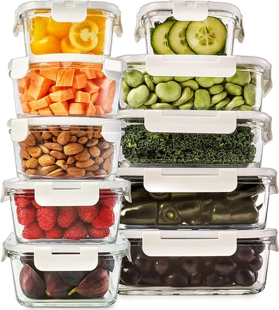 Prep Naturals Glass Food Storage Containers (20-Pieces)