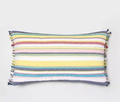 Woven Multi Stripe Pillow