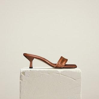 Basket Sandal, Tan