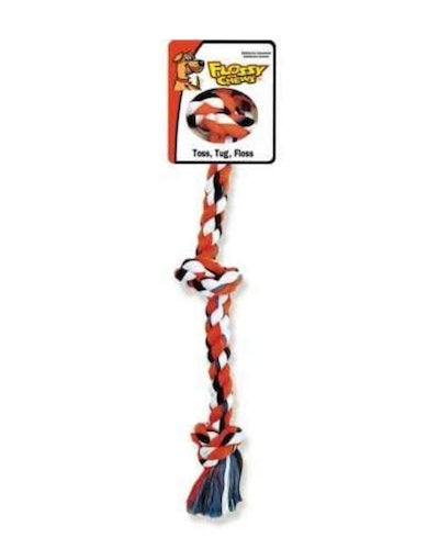 Mammoth Flossy Chews 3-Knot Rope Toy