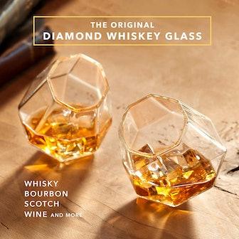 Dragon Glassware Diamond Whiskey Glasses (Set Of 2)