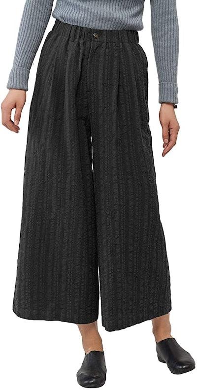 Les umes Women's Loose Linen Cotton Casual Wide Leg Pants