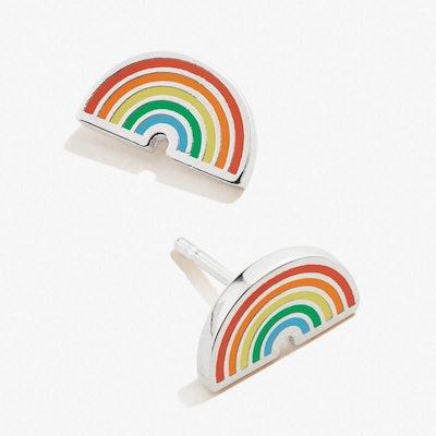 Color Infusion Rainbow Stud Earrings