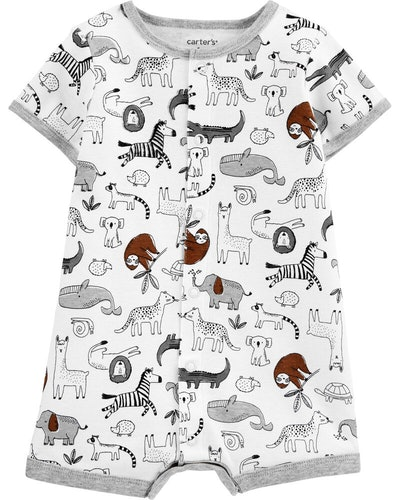 Animal Snap-Up Romper