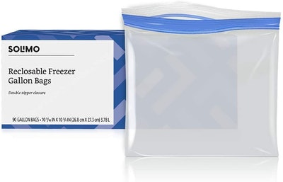 Solimo Freezer Gallon Bags (90 Count)