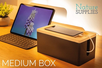 NATURE SUPPLIES Wooden Cable Management Box