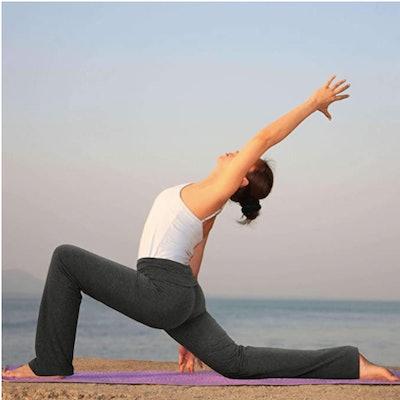 HDE Women's Color Block Fold Over Waist Yoga Pants