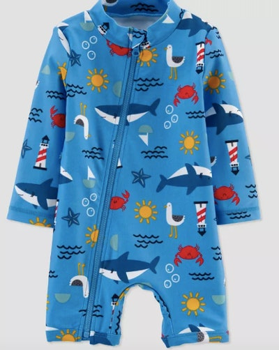 Baby Boys' Whales One Piece Swimsuit