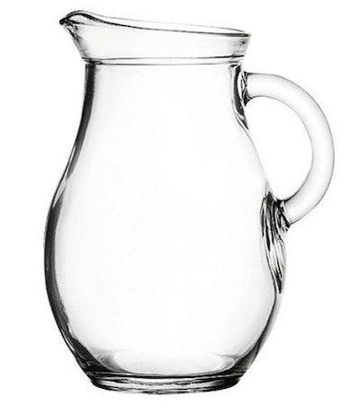 "Amazing Child Mini Glass Pitcher 9 Ounces - 5"" High. Child Sized."