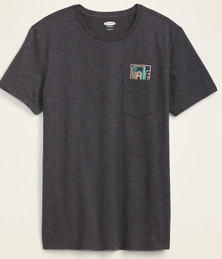 Soft-Washed Embroidered-Graphic Tee